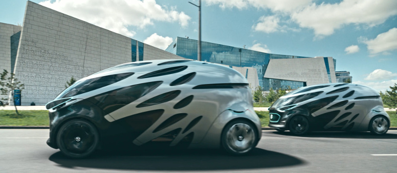 Der Mercedes-Benz Vision URBANETIC mit People-Mover-Modul.