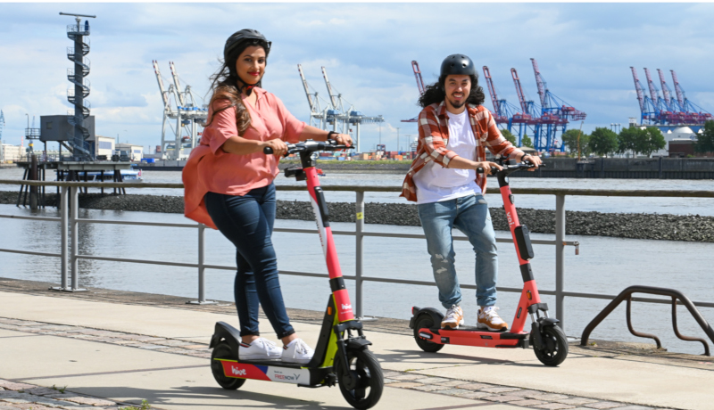 Free Now startet E-Scooter-Sharing in Hamburg