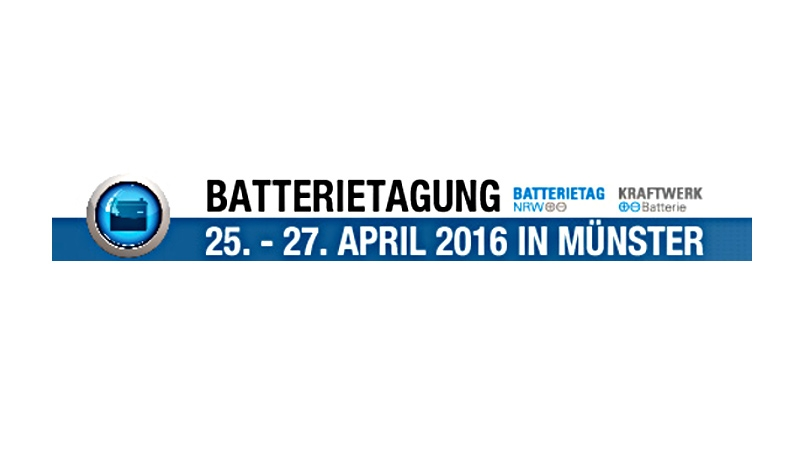 """Kraftwerk Batterie"": 8. Internationale Fachtagung zu Batterietechnologien in Münster"