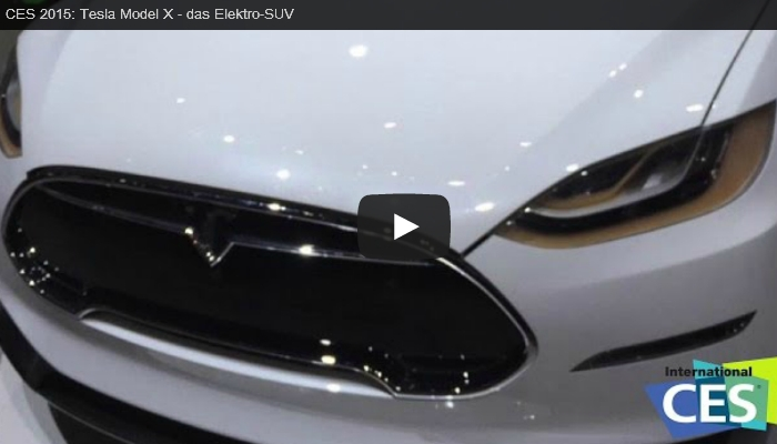 Tesla Model X auf der CES (Video)