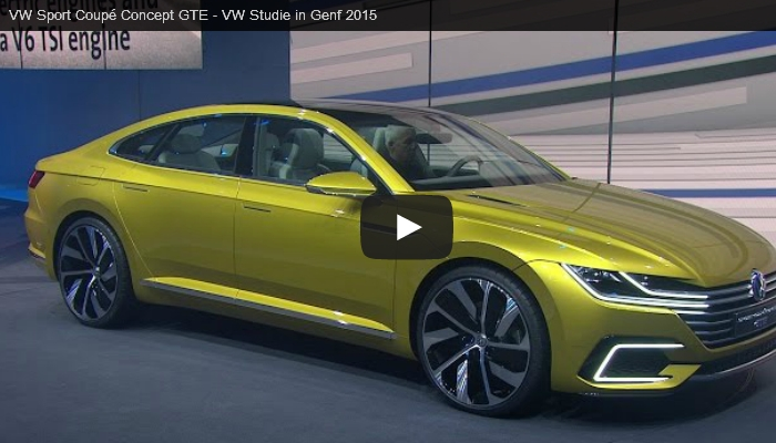 Video: Präsentation des VW Sport Coupé Concept GTE in Genf