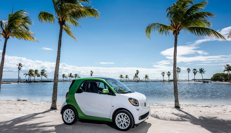 Ein E-Smart in Miami.
